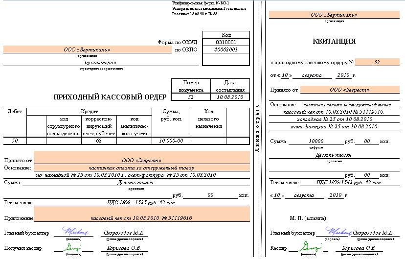 отчетный документ при вмененке на наличку совместимость