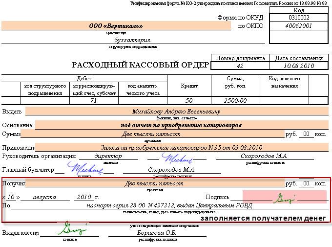 Урам, первичные документы при компенсации на питание железные опилки